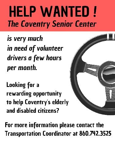 Help wanted flyer - drivers for senior center