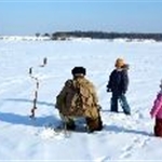 Ice Fishing Family