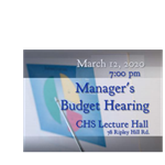 Manager Budget Hearing 2019