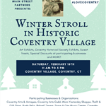 Winter Stroll in Historic Coventry Village Flyer
