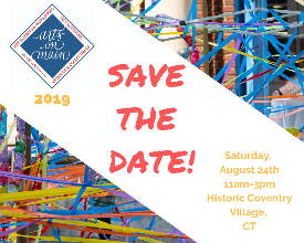 Arts on Main 2019 Save the Date