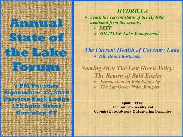 Poster state of lake forum