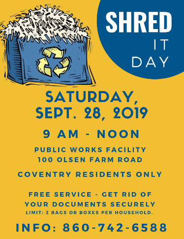 Shred it Day flyer 2019