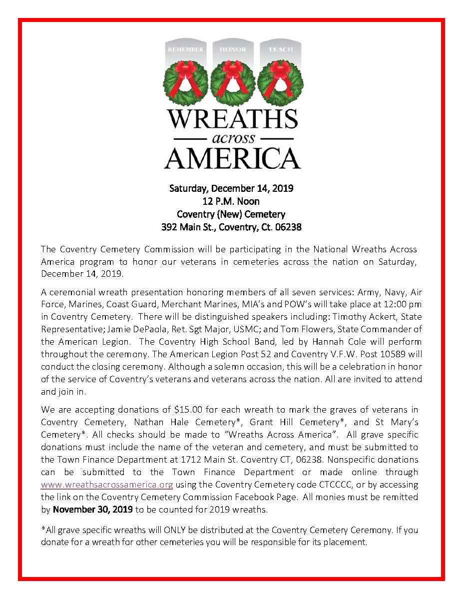 Wreaths Across America Communication 2019