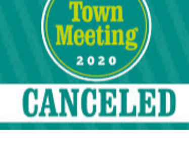 Town meeting canceled.