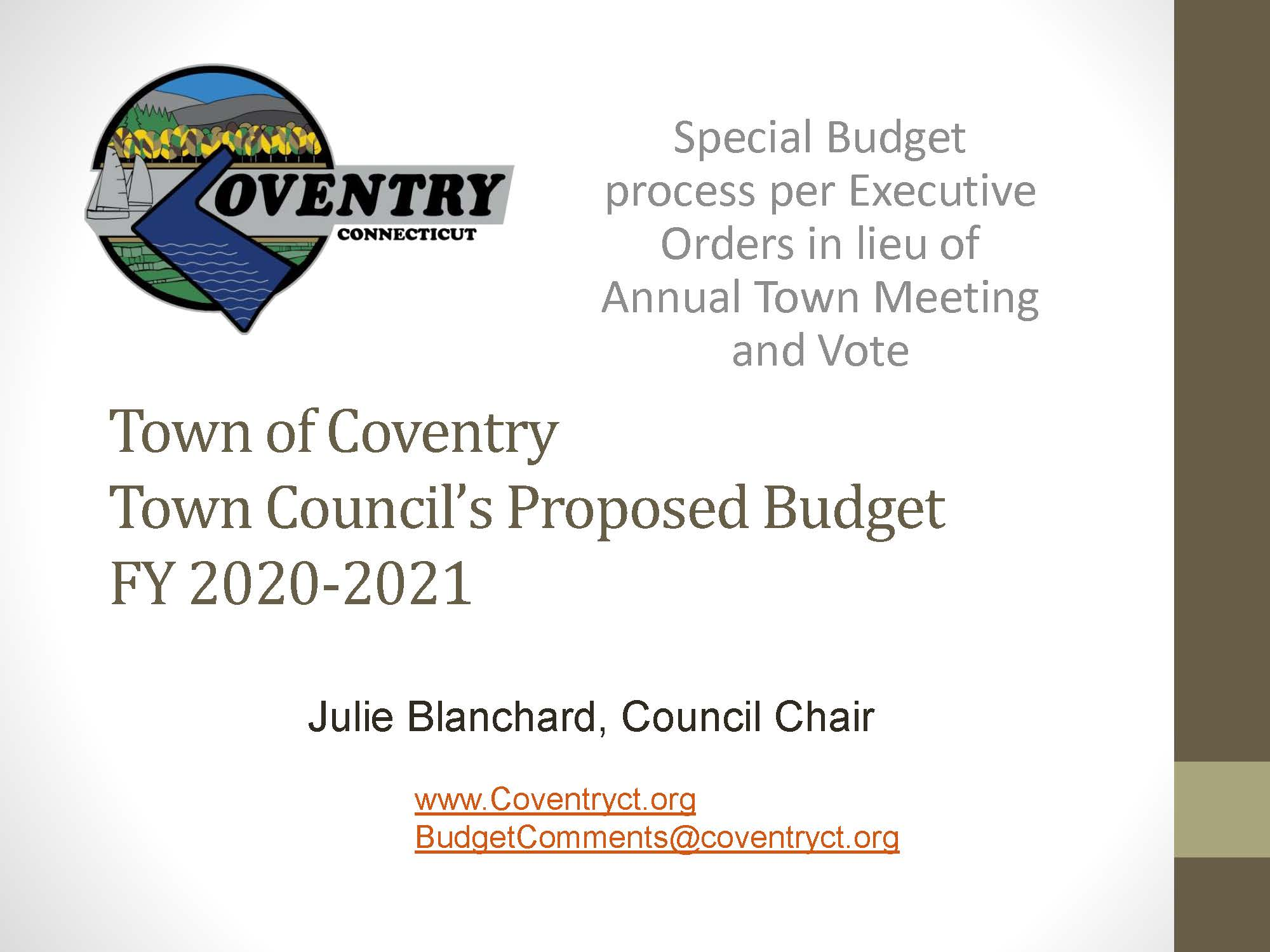 Pages from FY 21 Councils proposed budget 5-22-20