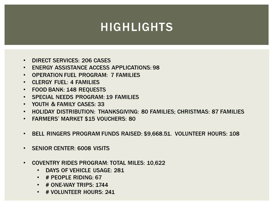 Human Services Highlights